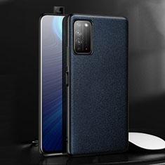 Coque Luxe Cuir Housse Etui pour Huawei Honor X10 5G Bleu