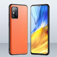 Coque Luxe Cuir Housse Etui pour Huawei Honor X10 Max 5G Orange