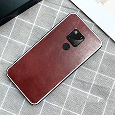 Coque Luxe Cuir Housse Etui pour Huawei Mate 20 Marron