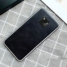 Coque Luxe Cuir Housse Etui pour Huawei Mate 20 Pro Noir