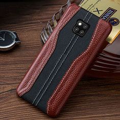Coque Luxe Cuir Housse Etui pour Huawei Mate 20 RS Marron