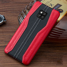 Coque Luxe Cuir Housse Etui pour Huawei Mate 20 RS Rouge