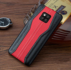 Coque Luxe Cuir Housse Etui pour Huawei Mate 20 RS Rouge et Noir
