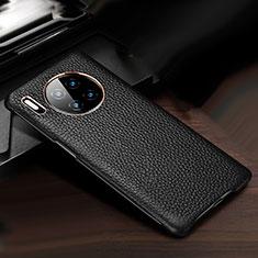 Coque Luxe Cuir Housse Etui pour Huawei Mate 30 5G Noir