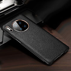 Coque Luxe Cuir Housse Etui pour Huawei Mate 30 Noir