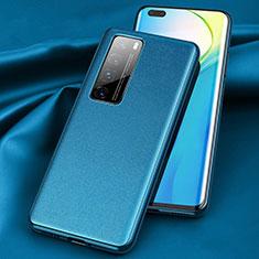 Coque Luxe Cuir Housse Etui pour Huawei Nova 7 Pro 5G Bleu