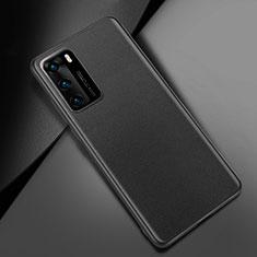 Coque Luxe Cuir Housse Etui pour Huawei P40 Noir