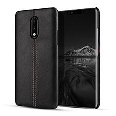 Coque Luxe Cuir Housse Etui pour OnePlus 7 Noir