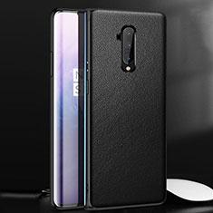 Coque Luxe Cuir Housse Etui pour OnePlus 7T Pro 5G Noir