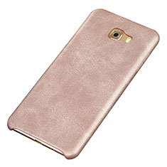 Coque Luxe Cuir Housse Etui pour Samsung Galaxy C9 Pro C9000 Or