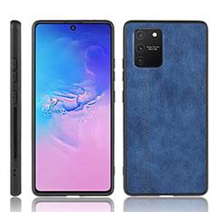 Coque Luxe Cuir Housse Etui pour Samsung Galaxy S10 Lite Bleu