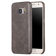 Coque Luxe Cuir Housse Etui pour Samsung Galaxy S7 G930F G930FD Marron