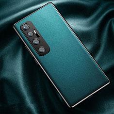 Coque Luxe Cuir Housse Etui pour Xiaomi Mi 10 Ultra Cyan