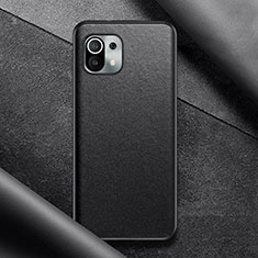 Coque Luxe Cuir Housse Etui pour Xiaomi Mi 11 5G Noir