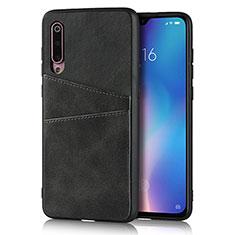 Coque Luxe Cuir Housse Etui pour Xiaomi Mi 9 Noir