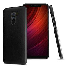 Coque Luxe Cuir Housse Etui pour Xiaomi Pocophone F1 Noir