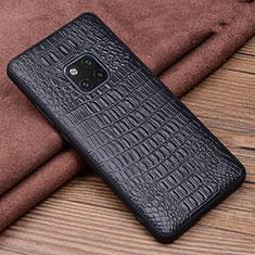 Coque Luxe Cuir Housse Etui R01 pour Huawei Mate 20 Pro Noir