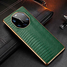 Coque Luxe Cuir Housse Etui R01 pour Huawei Mate 40 RS Vert