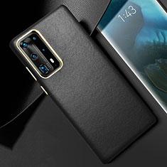 Coque Luxe Cuir Housse Etui R01 pour Huawei P40 Pro+ Plus Noir