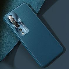 Coque Luxe Cuir Housse Etui R01 pour Xiaomi Mi 10 Cyan