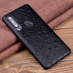 Coque Luxe Cuir Housse Etui R02 pour Huawei Honor 20 Lite Noir