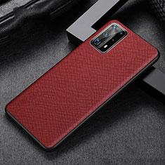 Coque Luxe Cuir Housse Etui R02 pour Huawei P40 Pro+ Plus Rouge