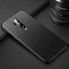 Coque Luxe Cuir Housse Etui R02 pour OnePlus 7T Pro Noir