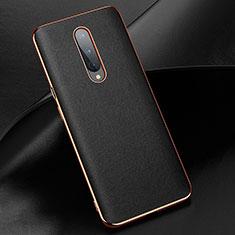Coque Luxe Cuir Housse Etui R02 pour OnePlus 8 Noir