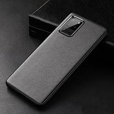 Coque Luxe Cuir Housse Etui R02 pour Samsung Galaxy S20 Ultra 5G Noir