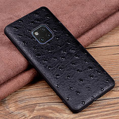 Coque Luxe Cuir Housse Etui R03 pour Huawei Mate 20 Pro Noir