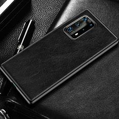 Coque Luxe Cuir Housse Etui R03 pour Huawei P40 Pro+ Plus Noir