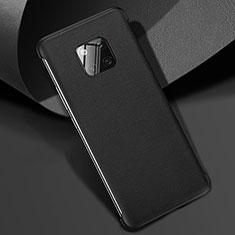 Coque Luxe Cuir Housse Etui R04 pour Huawei Mate 20 Pro Noir