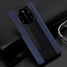 Coque Luxe Cuir Housse Etui R04 pour Huawei Mate 40 RS Bleu