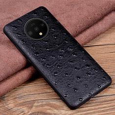 Coque Luxe Cuir Housse Etui R04 pour OnePlus 7T Noir