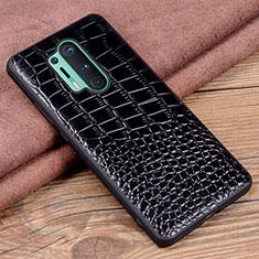 Coque Luxe Cuir Housse Etui R04 pour OnePlus 8 Pro Noir