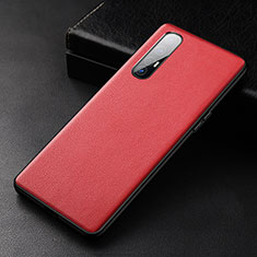 Coque Luxe Cuir Housse Etui R04 pour Oppo Find X2 Neo Rouge