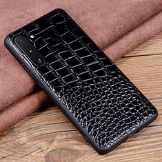 Coque Luxe Cuir Housse Etui R04 pour Samsung Galaxy Note 10 5G Noir