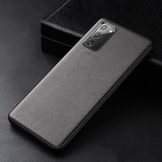 Coque Luxe Cuir Housse Etui R04 pour Samsung Galaxy Note 20 5G Noir