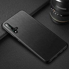 Coque Luxe Cuir Housse Etui R05 pour Huawei Honor 20 Noir