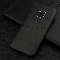 Coque Luxe Cuir Housse Etui R05 pour Huawei Mate 20 Pro Noir