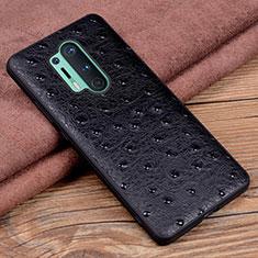 Coque Luxe Cuir Housse Etui R05 pour OnePlus 8 Pro Noir