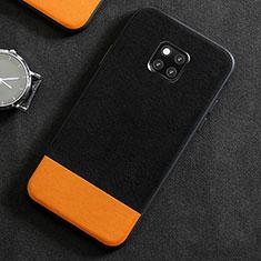 Coque Luxe Cuir Housse Etui R06 pour Huawei Mate 20 Pro Noir