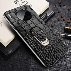 Coque Luxe Cuir Housse Etui R06 pour Huawei Mate 30 5G Noir