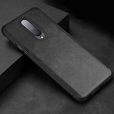 Coque Luxe Cuir Housse Etui R06 pour OnePlus 8 Noir
