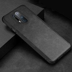 Coque Luxe Cuir Housse Etui R06 pour OnePlus 8 Pro Noir