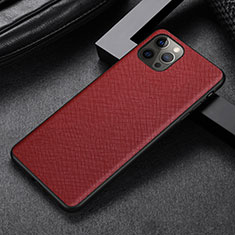 Coque Luxe Cuir Housse Etui R07 pour Apple iPhone 12 Pro Max Rouge