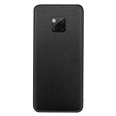 Coque Luxe Cuir Housse Etui R07 pour Huawei Mate 20 Pro Noir