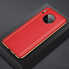 Coque Luxe Cuir Housse Etui R07 pour Huawei Mate 30 Rouge