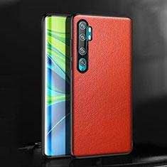 Coque Luxe Cuir Housse Etui R08 pour Xiaomi Mi Note 10 Rouge