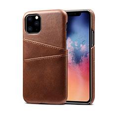 Coque Luxe Cuir Housse Etui R10 pour Apple iPhone 11 Pro Marron